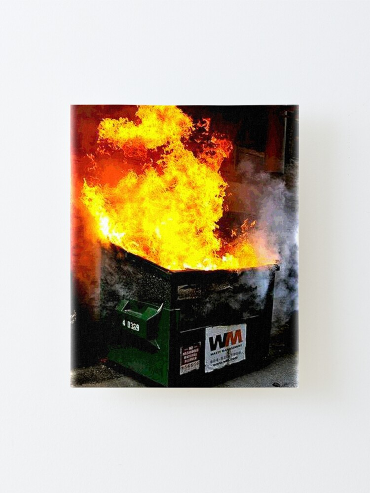 Alternate view of Dumpster Fire Mounted Print