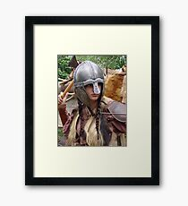 Dark Age Viking Warrior Woman Framed Print