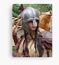 Dark Age Viking Warrior Woman Canvas Print