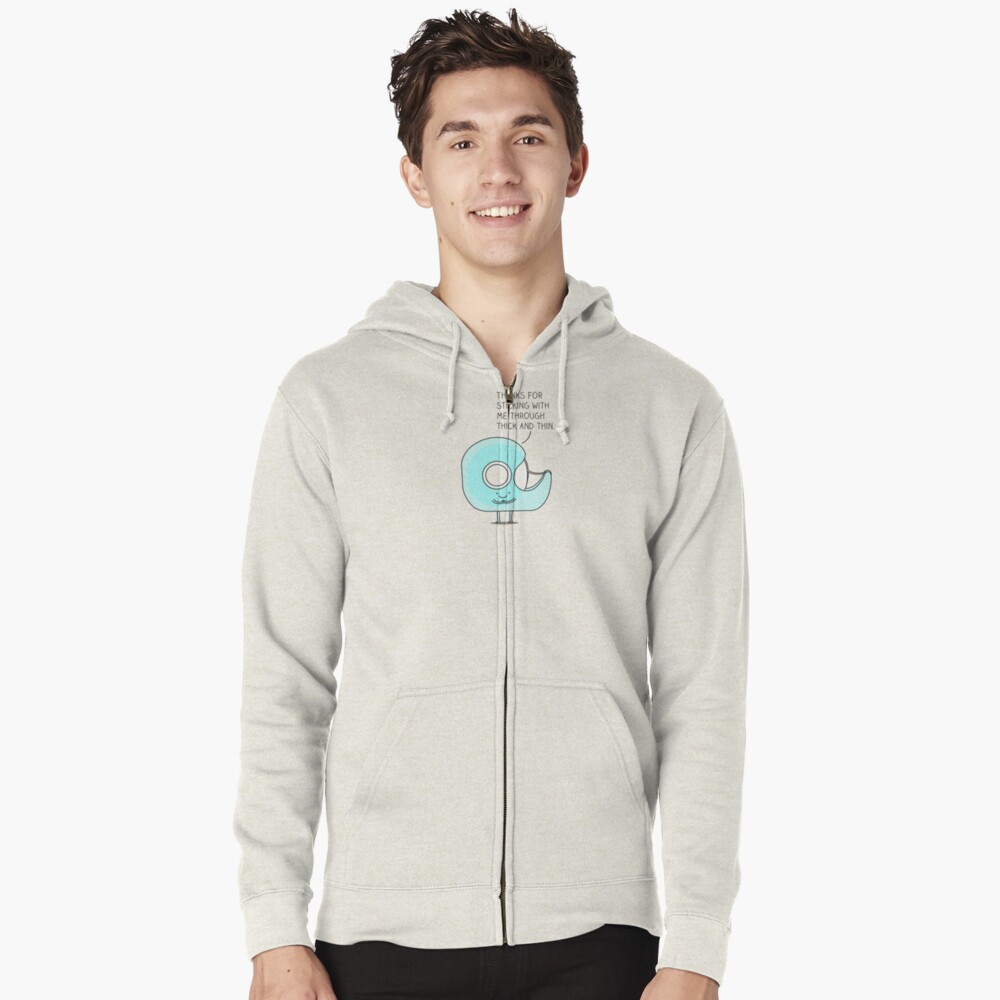 Let's stick together... Zipped Hoodie
