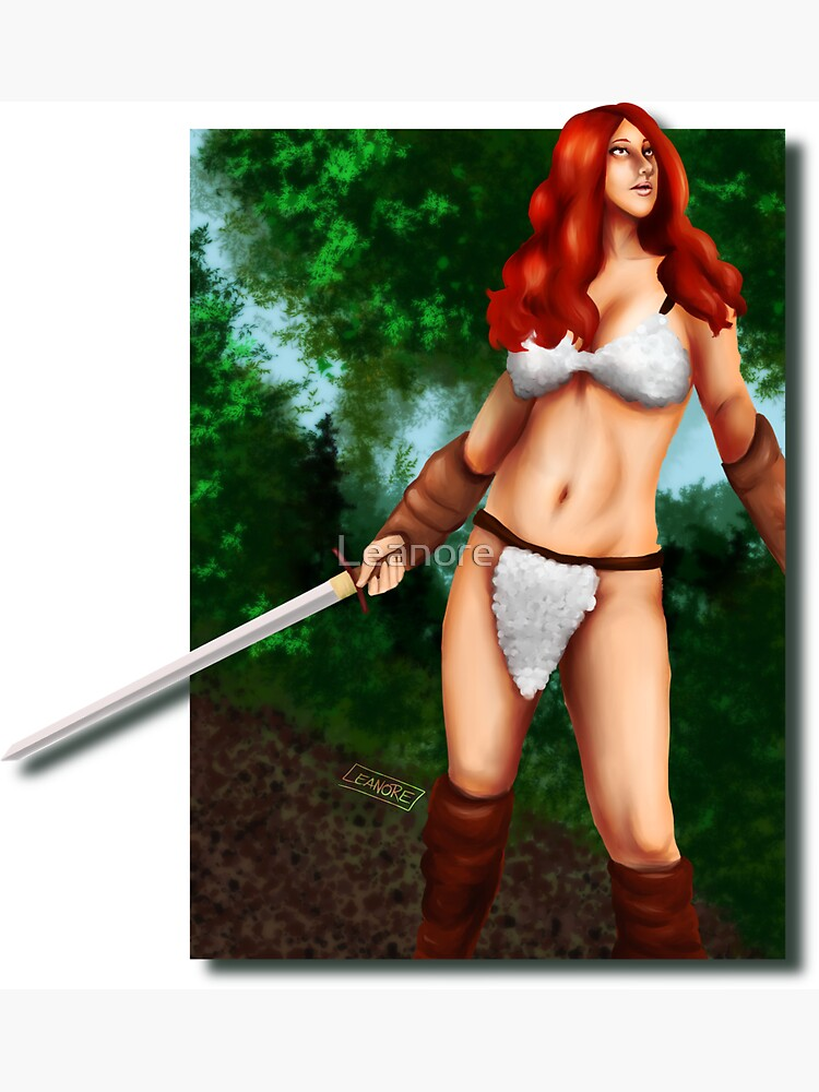 Red Haired Barbarian Babe by Leanore