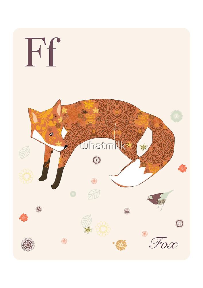alphabet poster - fox by whatmilk