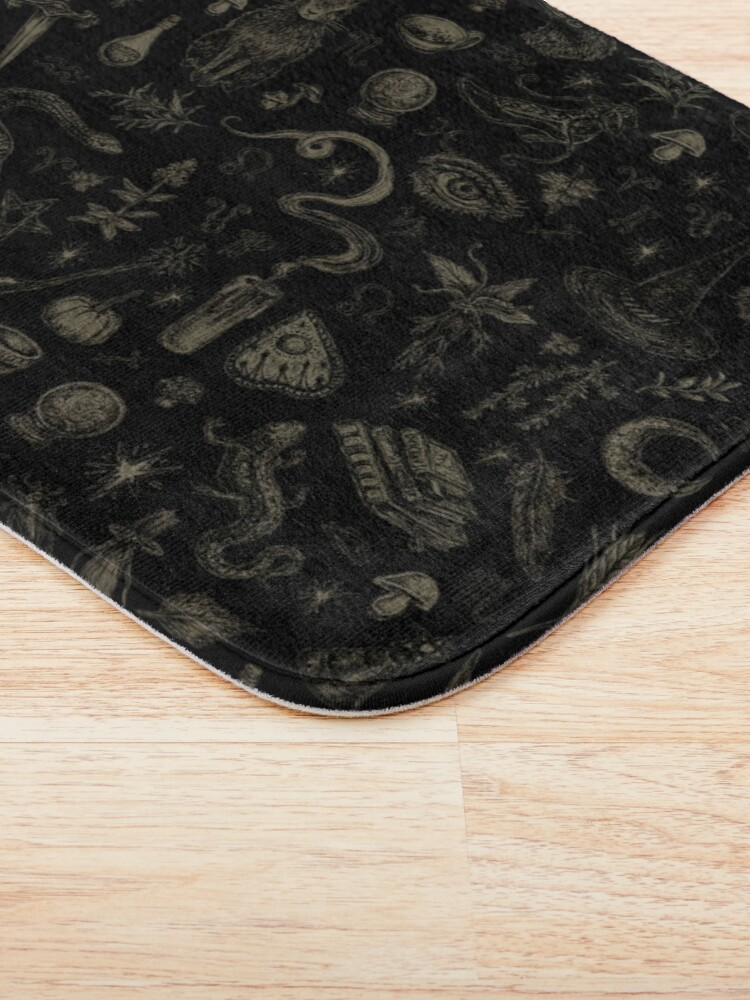 Alternate view of Just Witch Things (black and beige) Bath Mat