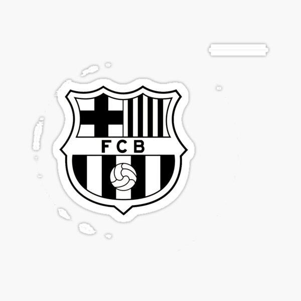FC Barcelona - Negro / Blanco Pegatina