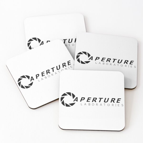 Aperture Laboratories (Portal series) Coasters (Set of 4)