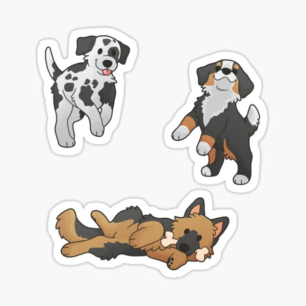 Chunky Pupper Stickers 2 Sticker