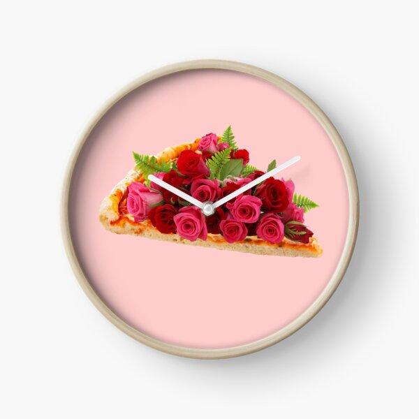 Rose pizza Clock