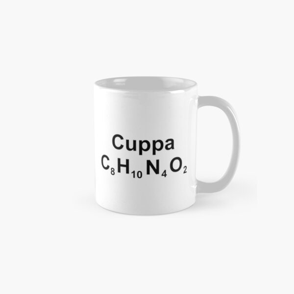 Cuppa C8H10N4O2 Caffeine Tea Coffee Cappuccino Classic Mug