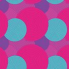 Pink, Purple and Blue Swirls by Rebecca Breedlove