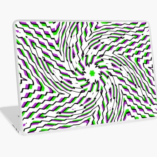 #OpArt, #visual #illusion, #VisualArt, opticalart, opticalillusion, opticalillusionart, opticalartillusion, psyhodelic, psichodelic, psyhodelicart Laptop Skin