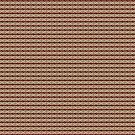 Knotwork and Lines - Cream Red and Brown by Sarinilli