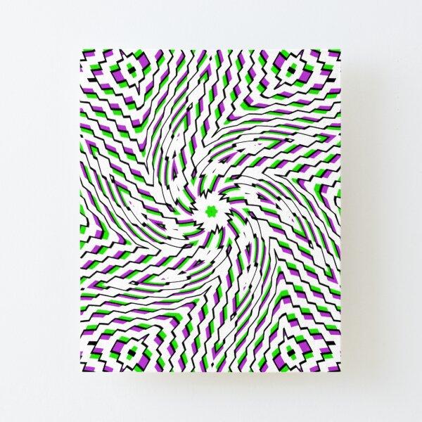 #OpArt, #visual #illusion, #VisualArt, opticalart, opticalillusion, opticalillusionart, opticalartillusion, psyhodelic, psichodelic, psyhodelicart Canvas Mounted Print