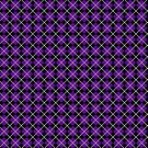 Diamonds and Stripes - Violet and Pewter by Sarinilli
