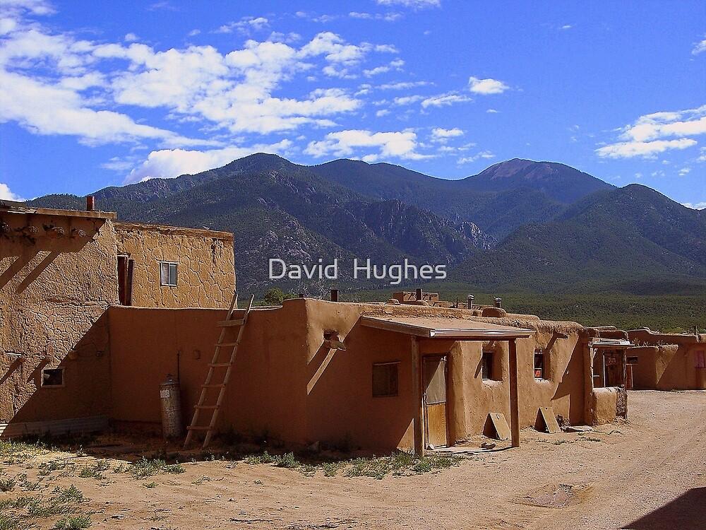 New Mexico, Taos Pueblo (Old Town) U.S.A. by David  Hughes