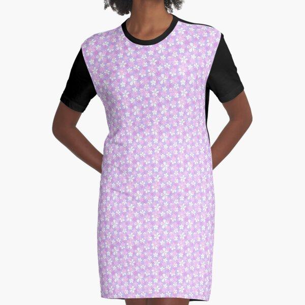 Sakura Chevron in Lavender Graphic T-Shirt Dress