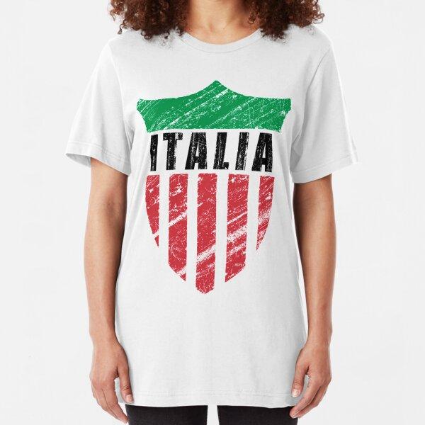 Vintage Italy Emblem Slim Fit T-Shirt