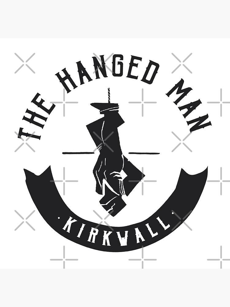 The Hanged Man Pub Logo | Dragon Age 2 | Black Logo by surik-