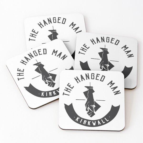 The Hanged Man Pub Logo | Dragon Age 2 | Black Logo Coasters (Set of 4)