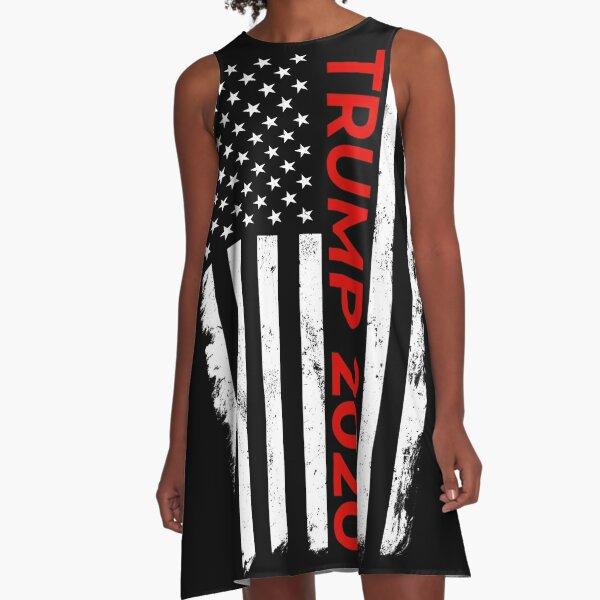 Trump 2020 American Flag A-Line Dress