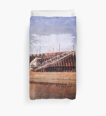 Vintage Great Lakes Freighter Duvet Cover