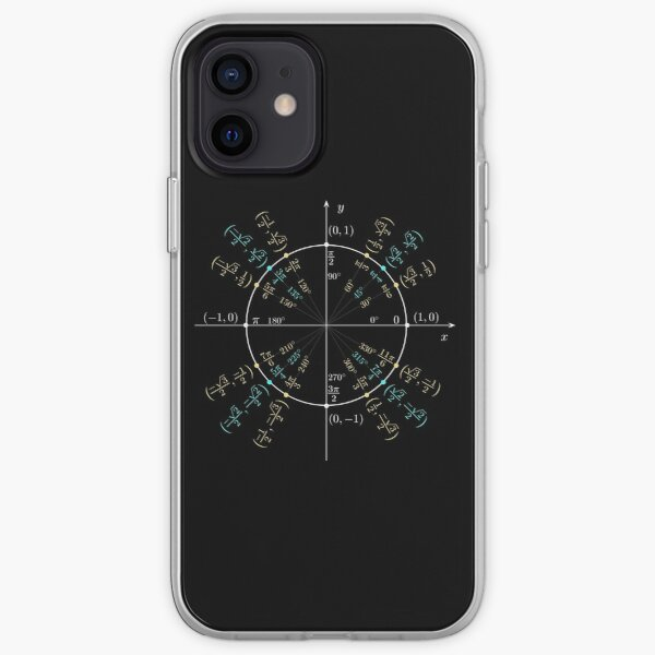 Unit #circle #angles. #Trigonometry, #Math Formulas, Geometry Formulas iPhone Soft Case