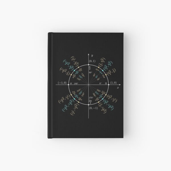 Unit #circle #angles. #Trigonometry, #Math Formulas, Geometry Formulas Hardcover Journal