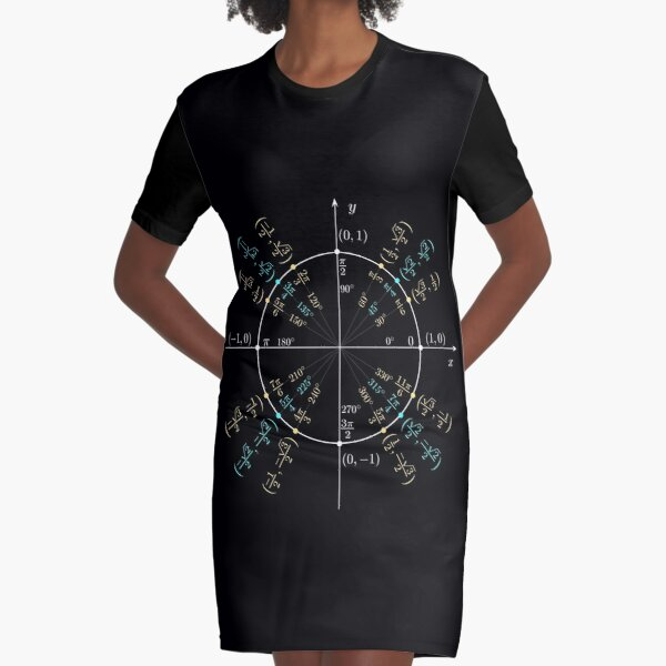 Unit #circle #angles. #Trigonometry, #Math Formulas, Geometry Formulas Graphic T-Shirt Dress
