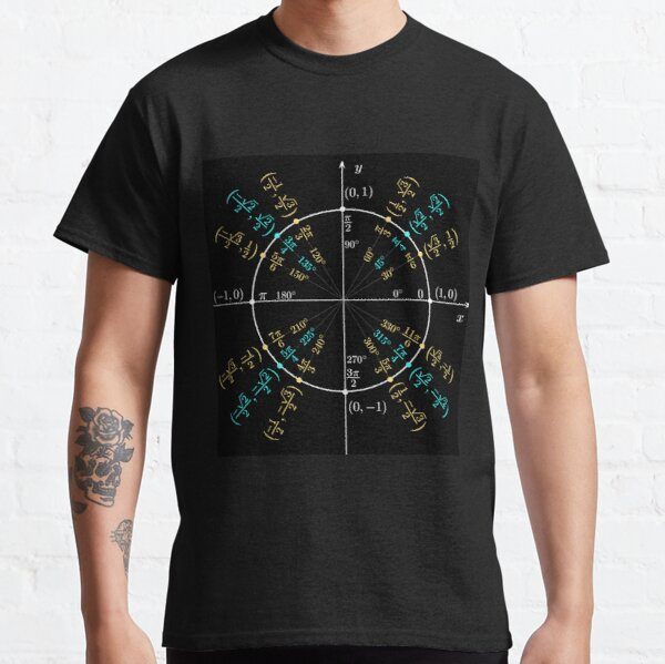 Unit #circle #angles. #Trigonometry, #Math Formulas, Geometry Formulas Classic T-Shirt