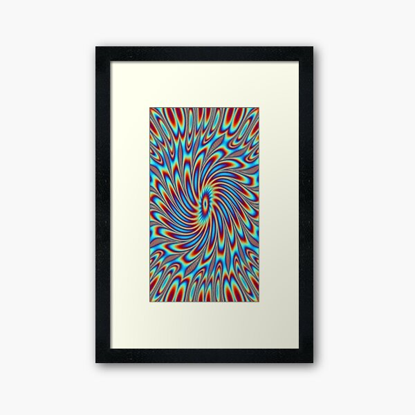 #OpArt, #visual #illusion, #VisualArt, opticalart, opticalillusion, opticalillusionart, opticalartillusion, psyhodelic, psichodelic, psyhodelicart Framed Art Print