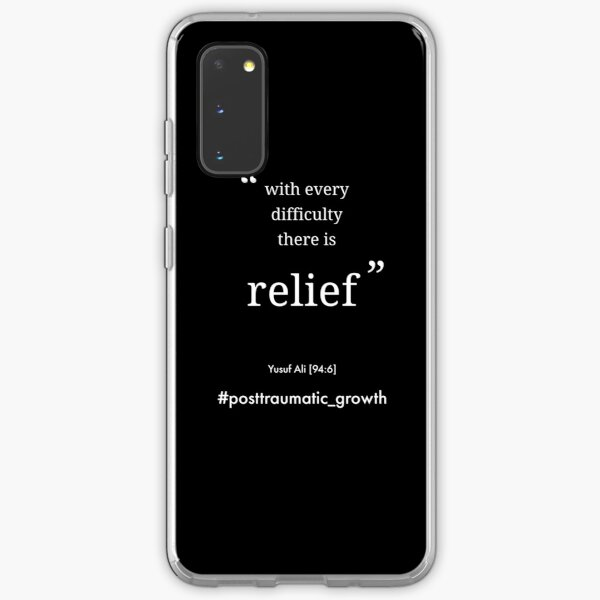With every difficulty there is relief mental heath quote on black Samsung Galaxy Soft Case