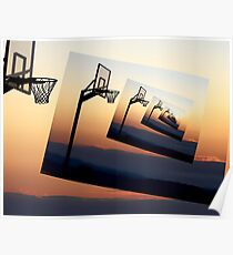 Basketball Hoop Silhouette Poster