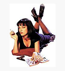 Uma Thurman Pulp Fiction Trasparent Png  Photographic Print