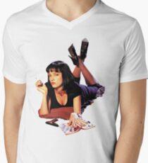 Uma Thurman Pulp Fiction Trasparent Png  Men's V-Neck T-Shirt