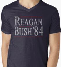 Retro Reagan Bush '84 Men's V-Neck T-Shirt