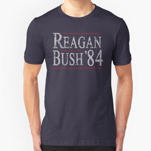 Retro Reagan Bush '84 Slim Fit T-Shirt