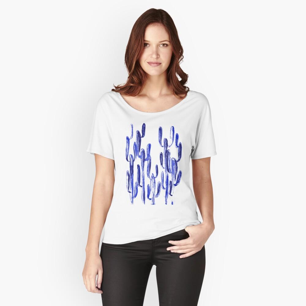 Indigo Kaktus Loose Fit T-Shirt
