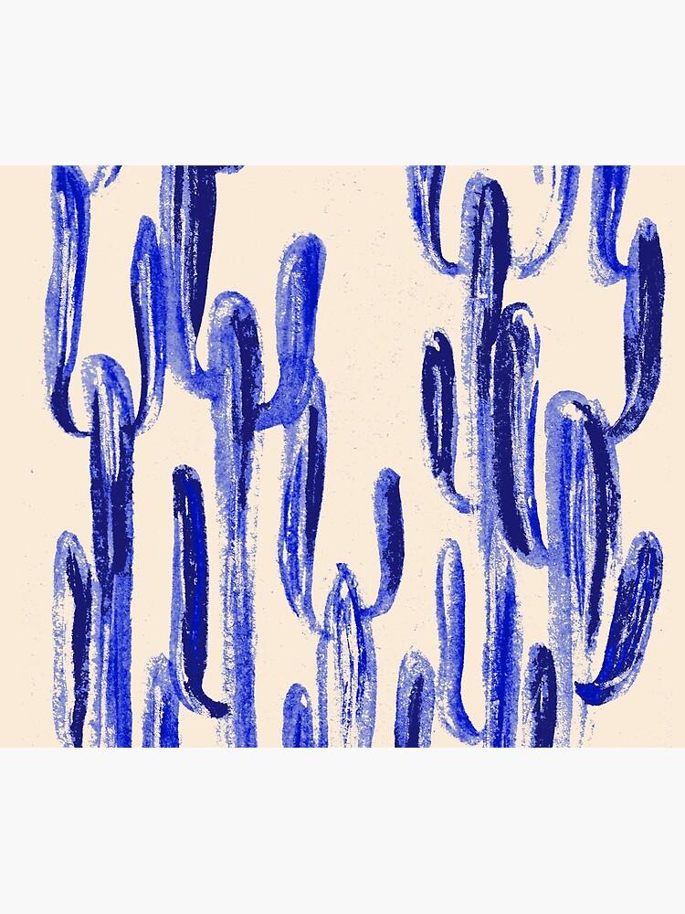 Indigo Kaktus von RanitasArt