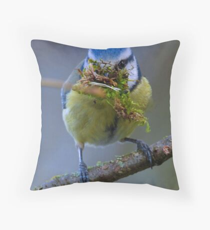 Mouth Full Throw Pillow
