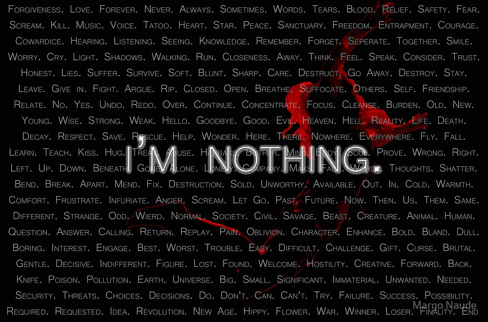 I'm Nothing by Margo Naude