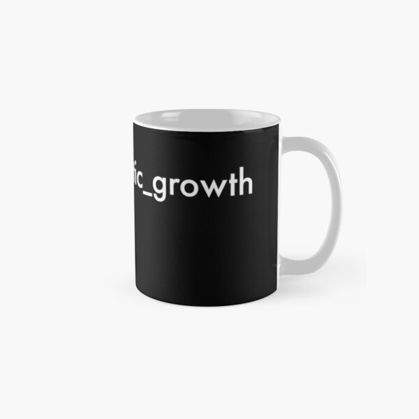 post-traumatic growth mental heath awareness hashtag on black Classic Mug