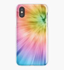 Colorful Starburst Tie Dye iPhone Case