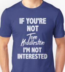Camiseta unisex Si no eres Tom Hiddleston
