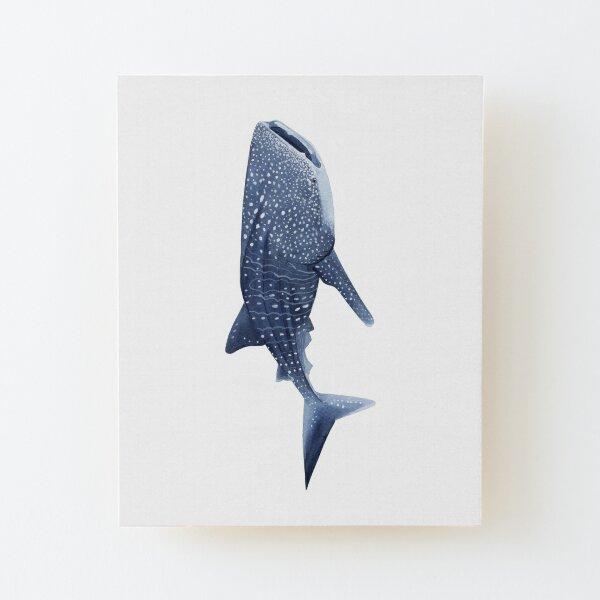 WHALE SHARK Wood Mounted Print