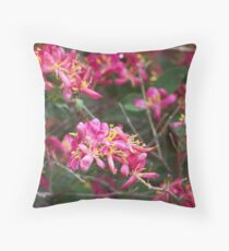 Arnold Red Honeysuckle Throw Pillow