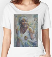 Serena Williams - Portrait 5 Women's Relaxed Fit T-Shirt