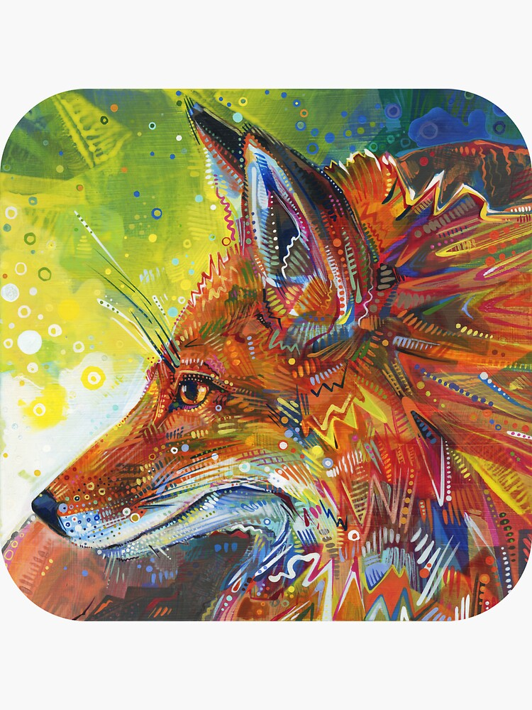 Red fox painting - 2012 by gwennpaints