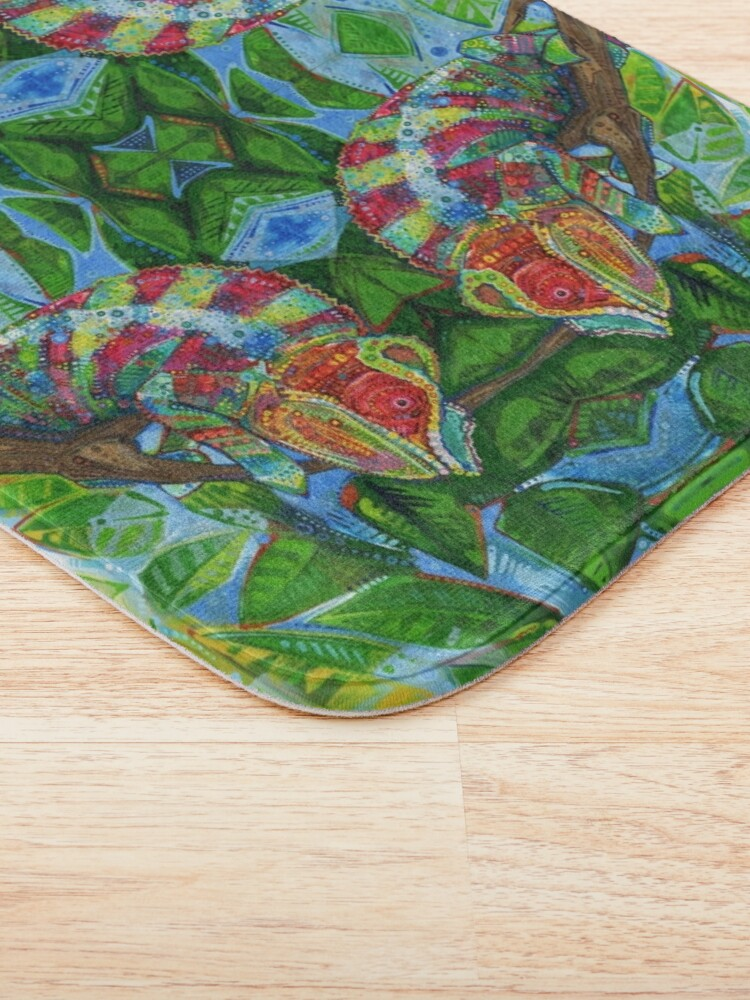 Alternate view of Panther chameleon painting - 2012 Bath Mat