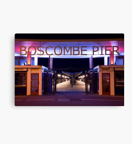 Boscombe Pier at night Canvas Print