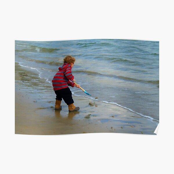 Child On Beach Poster