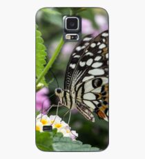 Macro Butterfly on Flowers Case/Skin for Samsung Galaxy